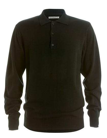 K356 Kustom Kit Mens Arundel Polo Shirt Long Sleeve